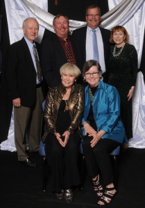 From left, Donegan Burns Board Member Calvin Nelson, Randy Geurin, Legal Counsel Dan Woodard, (DB) Board Member Liz Vasek-Kane, (DB) President Bettye Geurin-Burns, (DB) Board Member Jennifer Woodard