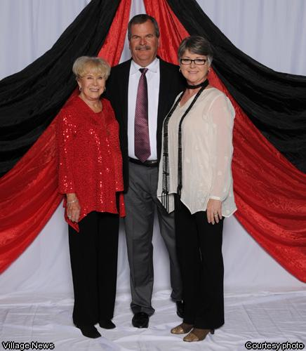 Representing the Donegan Burns Foundation from left, Bettye Burns - President DBF, Dan Woodard -Legal Counsel DBF, Jen Woodard -Board member DBF