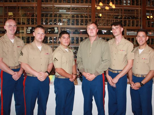 LCPL Hayes, LCPL Martinez, CPL La Coe, CPL Kingwell and LCPL Benito (Photo: DeAnn Lubell-Ames/Special to the Desert Sun)